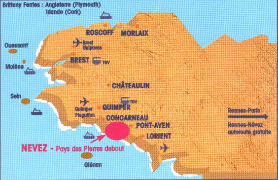 Carte Bretagne Nevez.Angleterre
